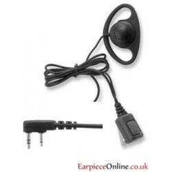 D-Ring Kenwood 2-pin Covert Earpiece