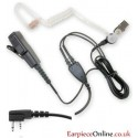 Good Quality Icom 2-Pin Covert Earpiece (Right Angle)