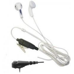 White Earphone bud style earpiece for the Motorola MTH650 & MTH800