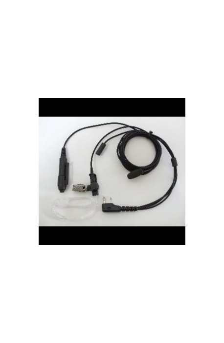 High Quality 3-wire Covert Kenwood 2-pin Connector Earpiece