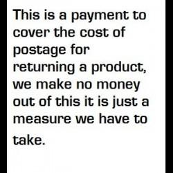 Return Postage cost