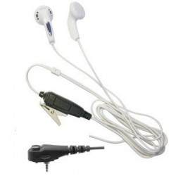White Earphone bud style earpiece for the Motorola MTH650 & MTH800