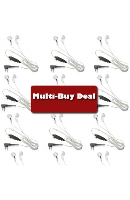 WHITE EARPHONE BUD STYLE EARPIECE Motorola Multi-Buy offer