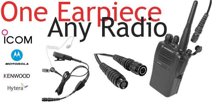 ONE EARPIECE, ANY RADIO